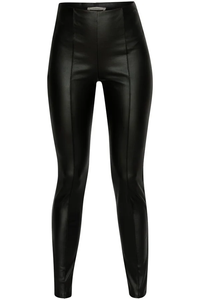 Fauxed Up in Faux Black Leather Ankle Leggings