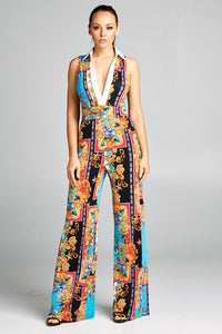 Stretch Baroque Printed Jumpsuit