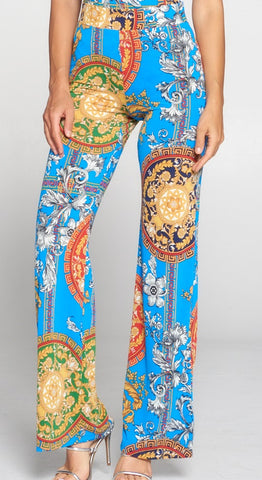 Baroque Printed Pull Up Pants