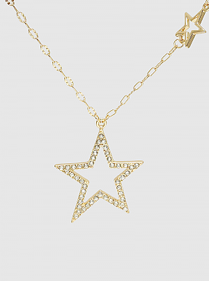 Star Bright Celestial Crystal Pave Pendant Necklace