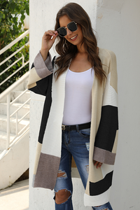Color Block Kimono Knit Sweater