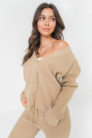 Chunky Camel Sweater Top