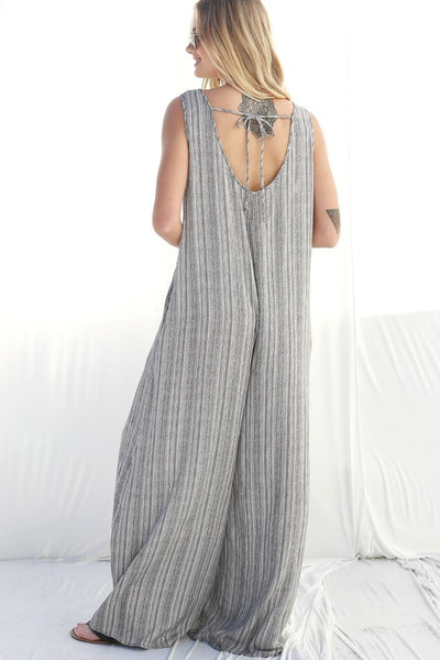 Easy Does It Tribal Print Wide Jumpsuit