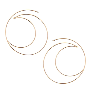 Simply Complicated Geometric Gold Earrings