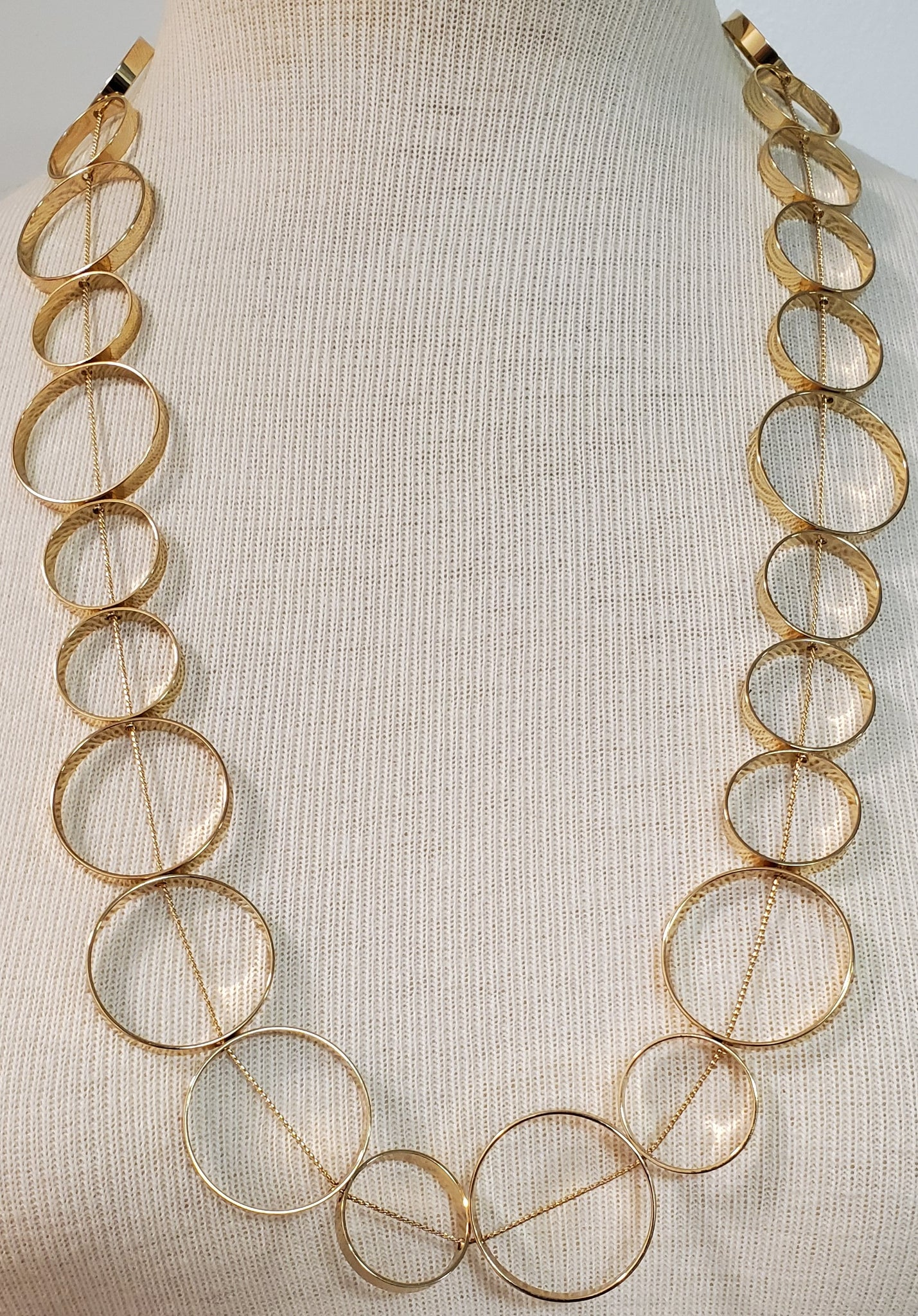 Circles Galore Gold Necklace