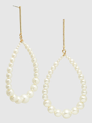 Pearl Teardrop Dangle Earrings