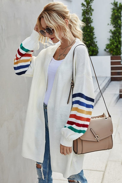 Cozy Candy Stripe Sweater Cardigan
