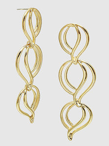 Oval Shapes Gold Drop and Dangle Earrings