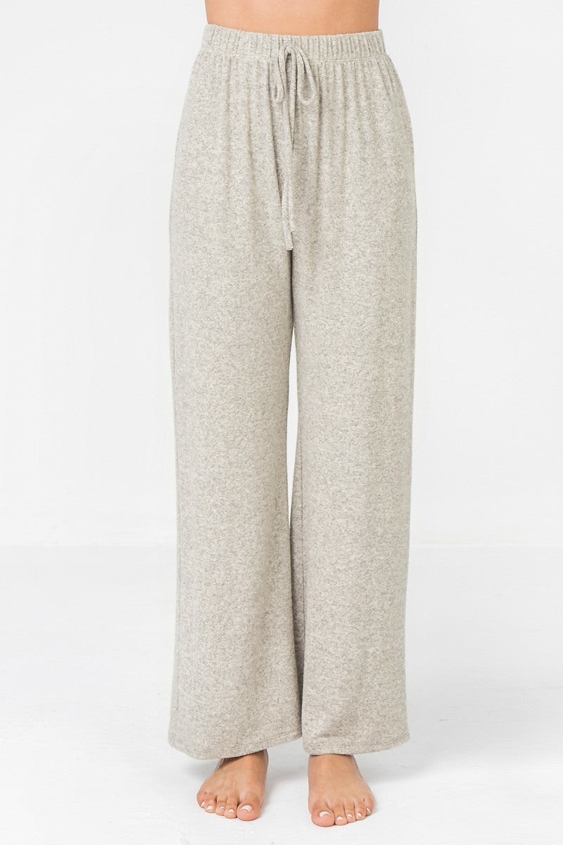 Super Soft Knit Wide Leg Sweat Pants