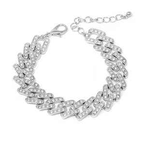 Light Up Your Wrist Pave Link Silver Bracelet