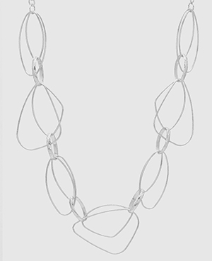 Shapes Galore Geo Silver Necklace