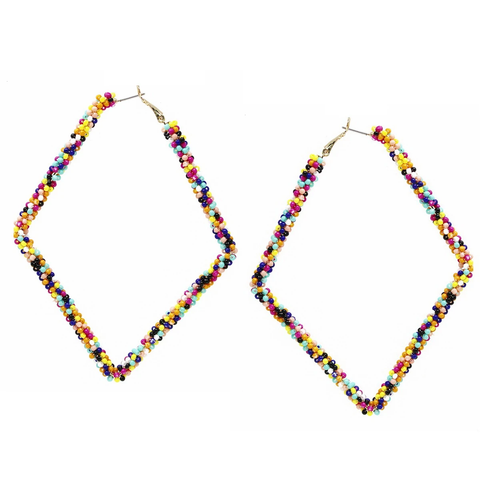 Doing the Most Large Rhombus Shape Bead Earrings