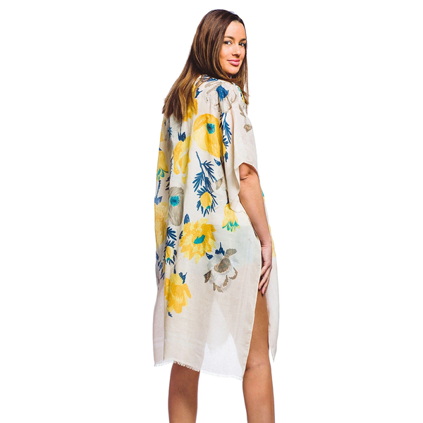 Flowered Up Printed Kimono