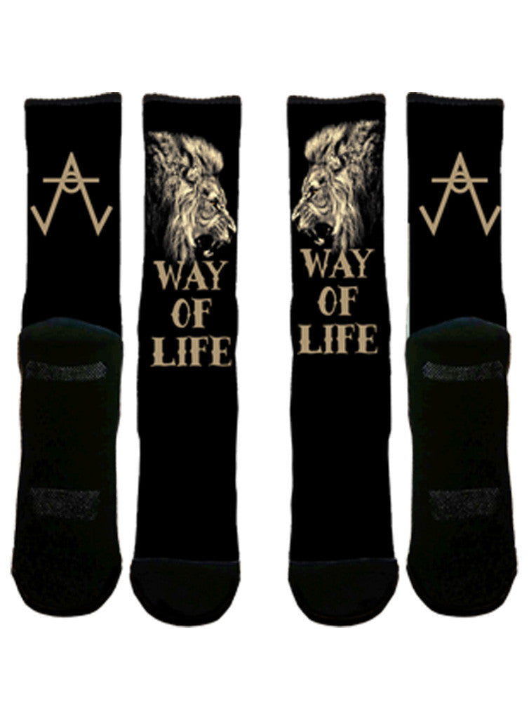 Way of Life - Sports socks-Socks-AWOL CLOTHING-S/M-AWOL CLOTHING