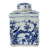 BLUE & WHITE SMALL JAR CURVED TEA JAR