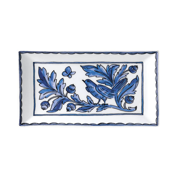 Blue Bird Rectangular Platter