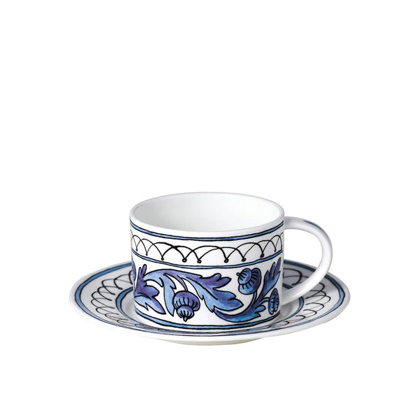 Blue Bird Cups & Saucers /Set of Four