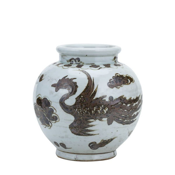 RUSTY BROWN SMALL JAR PHOENIX