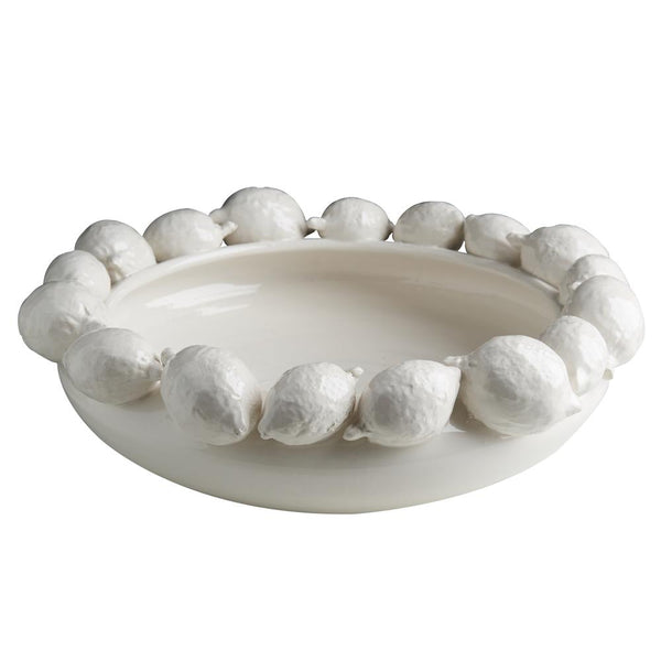 Ceramic Lemon Bowl, White