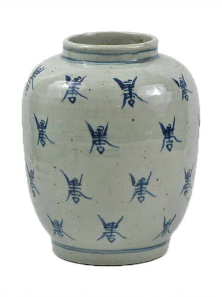 Blue and White Porcelain Bee Jar