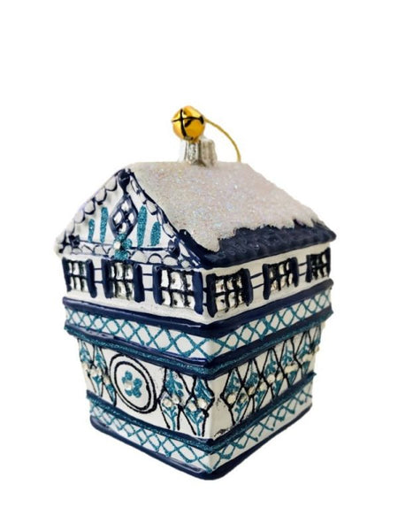 Blue & White Delft House Ornament
