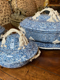 SMALL BLUE APTWARE TUREEN