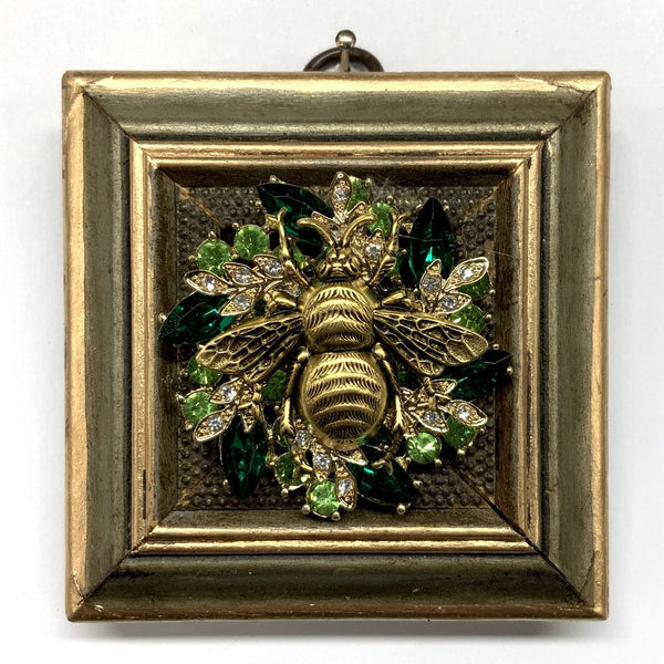 Painted Frame with Grande Bee on Brooch