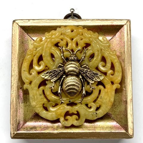 Painted Frame with Grande Bee on Jade