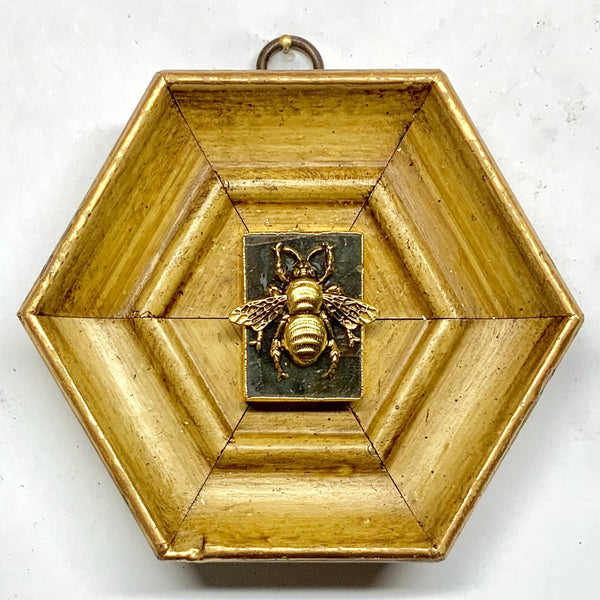 Gilt Frame with Grande Bee on Stone