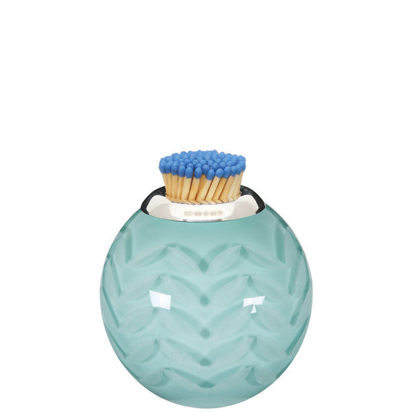 Lucy Cope Matchstriker Small Celadon Chevron