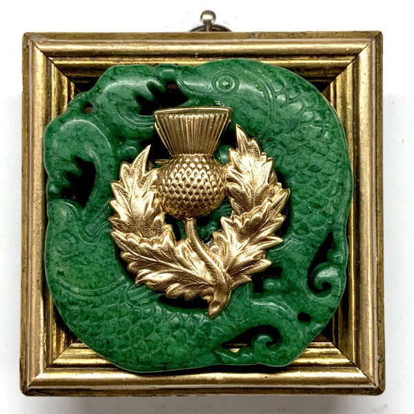 Gilt Frame with Thistle on Jade