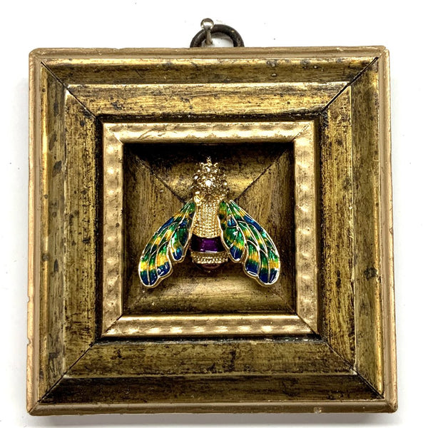 Gilt Frame with Enamel Bee