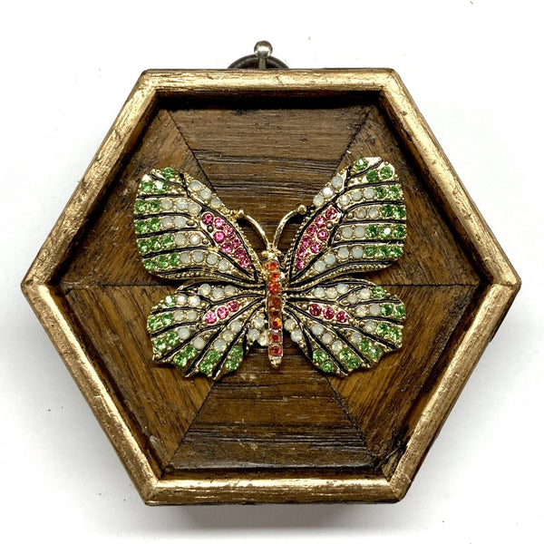 Wooden Frame with Sparkle Butterfly