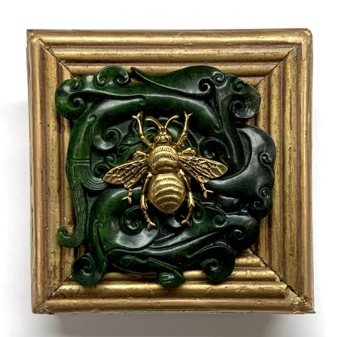 Gilt Frame with Grande Bee on Jade