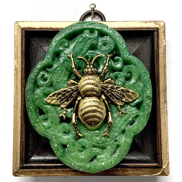 PAINTED FRAME WTIH GRANDE BEE ON JADE