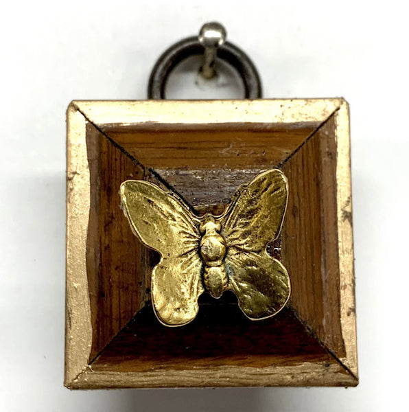 Tiny Wooden Frame with Butterfly