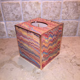Tissue Box ~ Hand-marbled Paper