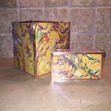 Matchbox ~ Hand-marbled Paper