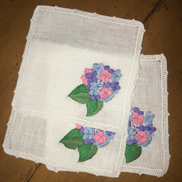 Cocktail Napkins ~ Hydrangea (Set of 4)