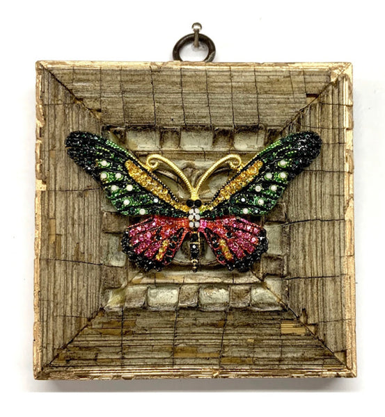 Painted Frame with Sparkle Butterfly
