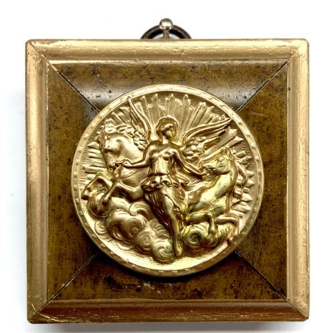 Burled Frame with Athena Coin