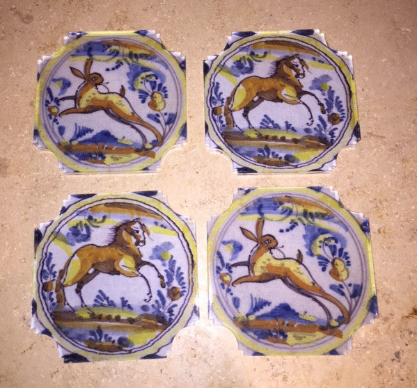 Acrylic Coasters Quimper-Inspired
