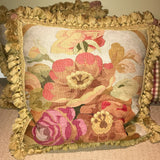 Antique Aubusson Pillows & Check
