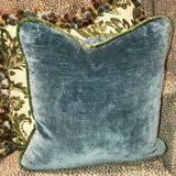 Pair of Blue Velvet Pillows