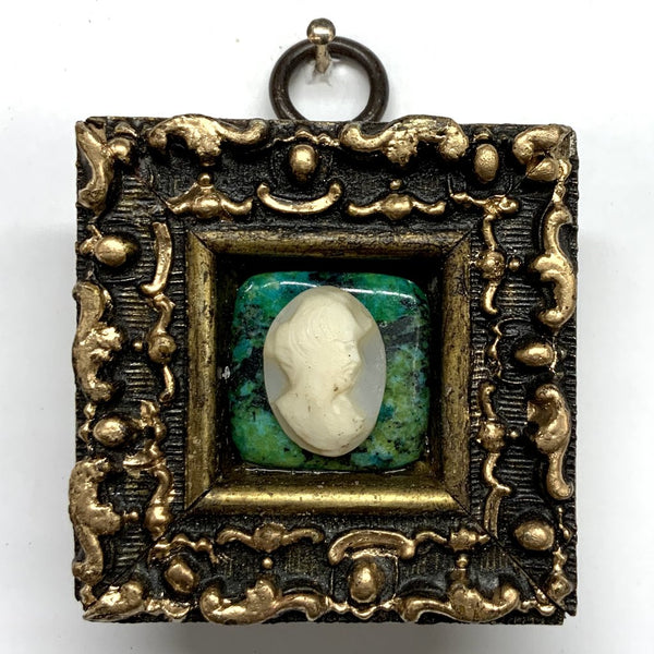 Gilt Frame with Cameo on Stone