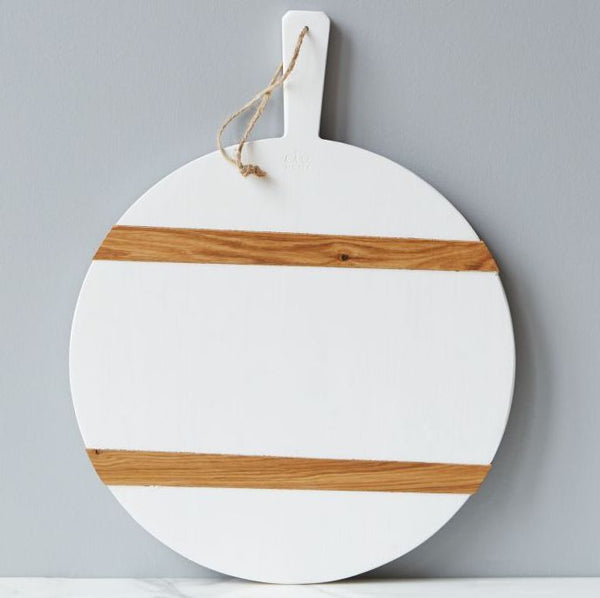 White Mod Charcuterie Board ~ Medium Round