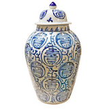 Blue and White Longevity Heaven Jar