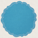 Round with decorative border Placemats ~ Set of 6 (Multiple colors)