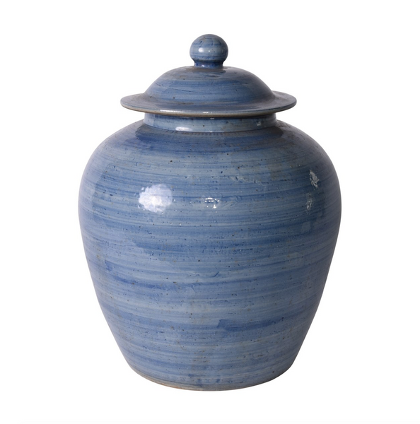 Denim Blue Lidded Village Jar ~ limited stock