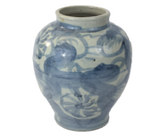 Blue and White Porcelain Lotus Jar